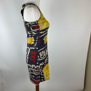Desigual Dresses - Desigual Graphic halter yellow & black Tank Dress